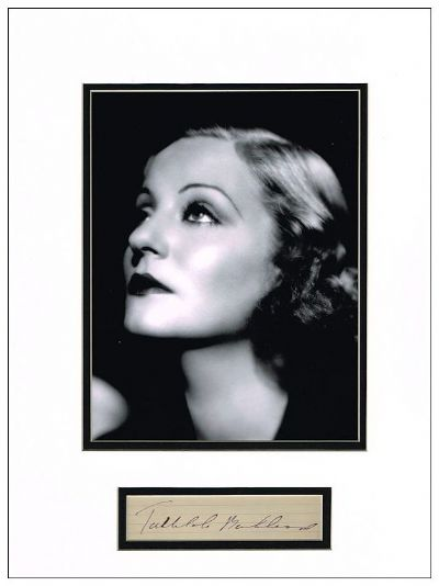 Tallulah Bankhead Autograph Signed For Sale